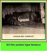 Oil fired pusher type furnace